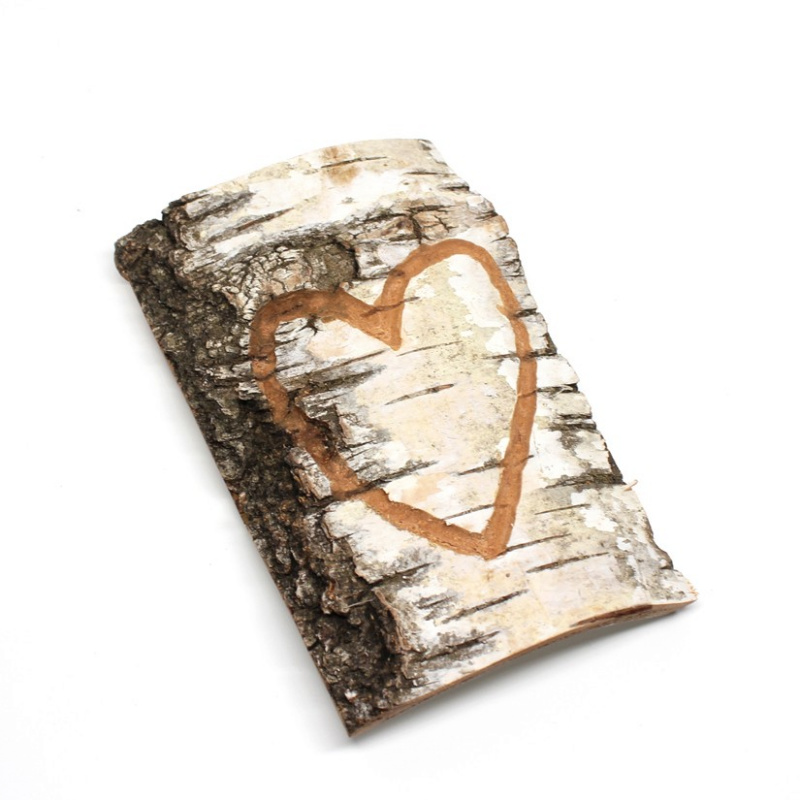 I Love Card aus Rindenstück