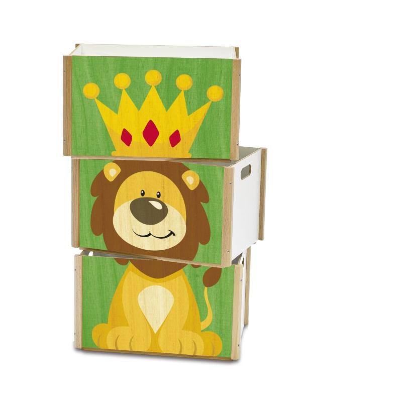 Stapelboxen set 3 boxen - Stapelboxen kinderzimmer ...