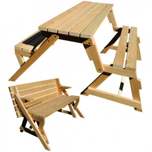 Tisch-Bank-Garnitur zwei in einem
